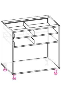 стол с 2 ящиками и 2 дверьми