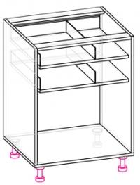 стол с 3 ящиками