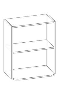 шкаф двухдверный горизонтальный