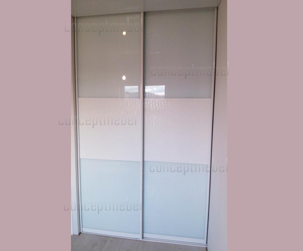 встроенные двери белый глян залить